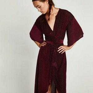 Large zara dress velvet